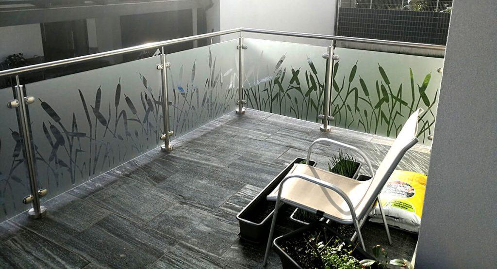 folierung | milchglas | dekor | terrasse | schilf | wien | noe